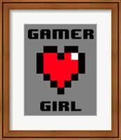 Gamer Girl  - Gray Fine-Art Print
