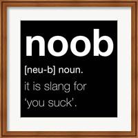 Noob - Black Fine-Art Print