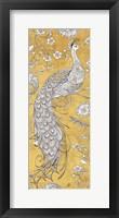 Color my World Ornate Peacock II Gold Fine-Art Print