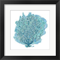 Teal Coral on White II Fine-Art Print