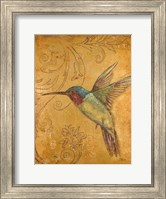Golden Hummingbird II Fine-Art Print