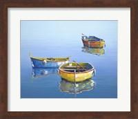 3 Boats Blue 3 Fine-Art Print
