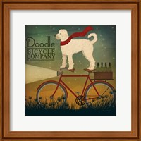 White Doodle on Bike Summer Fine-Art Print