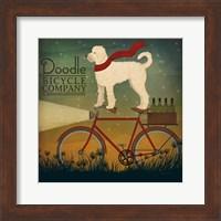 White Doodle on Bike Summer Fine-Art Print