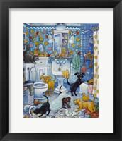 More Bathroom Pups Fine-Art Print