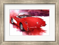 '57 Red Corvette Fine-Art Print