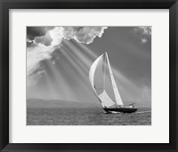 Sailing under sunbeams, L'Anse Bay, Michigan '13 Fine-Art Print