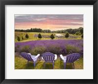 Lavender Chairs, Horton Bay, Michigan '14-color Fine-Art Print