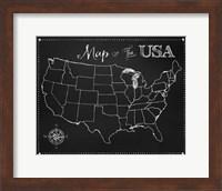 Chalkboard US Map Fine-Art Print