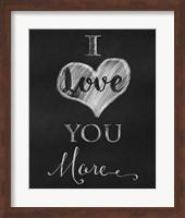 Chalkboard I Love You More Fine-Art Print