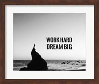 Work Hard Dream Big - Sea Shore Black and White Fine-Art Print