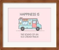 Ice Cream Truck Blue Fine-Art Print