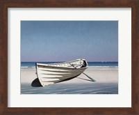 White Boat On Beach Fine-Art Print
