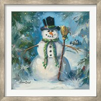Sweeping Snowman Fine-Art Print