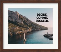 Decide Commit Succeed - Sailboat Color Fine-Art Print