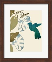 Hummingbird and Morning Glories Fine-Art Print