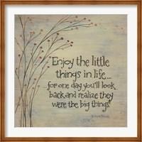 Enjoy the Little Things Fine-Art Print
