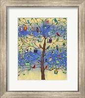 Bird and Bird Houses on Tree Fine-Art Print