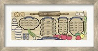 Earth Tone Recipe Board Fine-Art Print