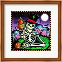 Skeleton and Pumpkin Fine-Art Print
