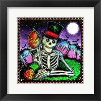 Skeleton and Pumpkin Fine-Art Print