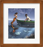 A Mermaid And Her Pets Fine-Art Print