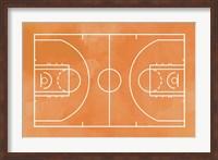 Basketball Court Orange Paint Background Fine-Art Print