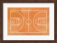 Basketball Court Orange Paint Background Fine-Art Print