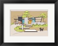 Mid-Century House #1 - Chrysler Black Dog Fine-Art Print
