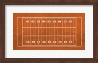 American Football Field Orange Fine-Art Print