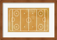 Ice Hockey Rink Yellow Paint Fine-Art Print