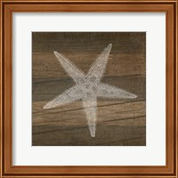 Rustic Starfish - White Fine-Art Print