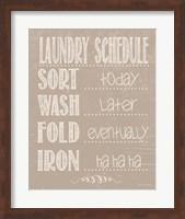 Laundry Schedule - Beige Fine-Art Print