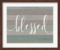 Rustic Blessed Script Fine-Art Print