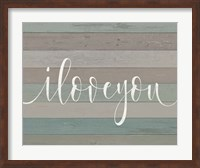 Rustic I Love You Script Fine-Art Print