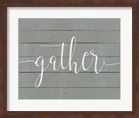 Rustic Gather Script Fine-Art Print