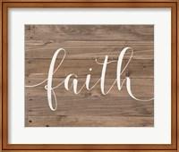 Rustic Faith Script Fine-Art Print