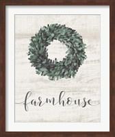Farmhouse Wreath Fine-Art Print