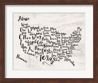 Scripted Map Fine-Art Print
