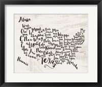 Scripted Map Fine-Art Print