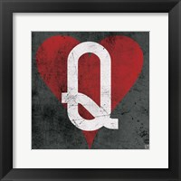 Queen of Hearts Gray Fine-Art Print