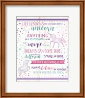 Life Lessons Unicorn Fine-Art Print