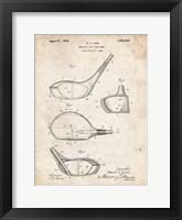Metallic Golf Club Head Patent - Vintage Parchment Fine-Art Print