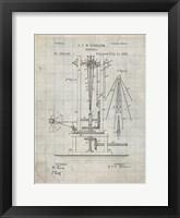 Windmill Patent - Antique Grid Parchment Fine-Art Print