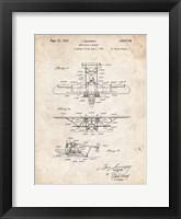 Amphibian Aircraft Patent - Vintage Parchment Fine-Art Print