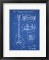 Guitar & Combined Bridge & Tailpiece Therefor Patent - Blueprint Fine-Art Print