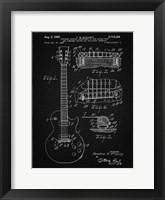 Guitar & Combined Bridge & Tailpiece Therefor Patent - Vintage Black Fine-Art Print
