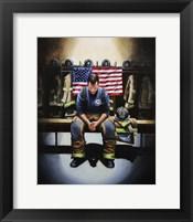 Praying Firefighter Fine-Art Print