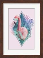 Tropical Leaves & Flamingo Fine-Art Print