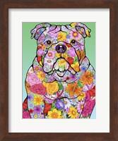 Flowers Bulldog Fine-Art Print